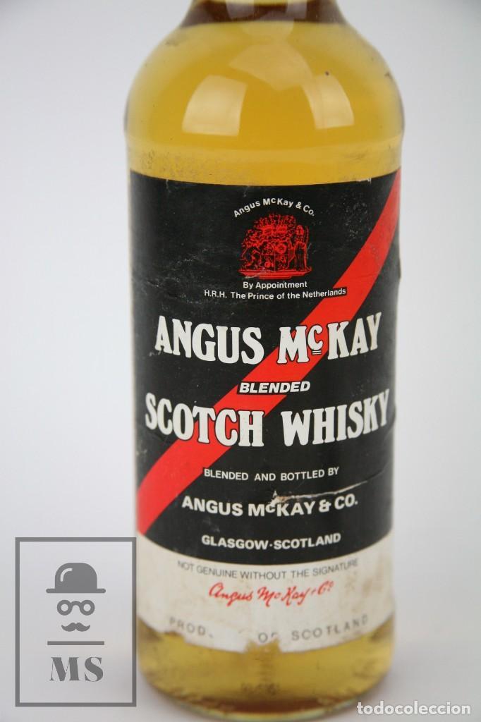 Coleccionismo de vinos y licores: Botella de Whisky - Angus McKay. Blended Scotch Whisky - 40º, 75 cl. - Precintada - Año 1994 - #JSW - Foto 2 - 124598791