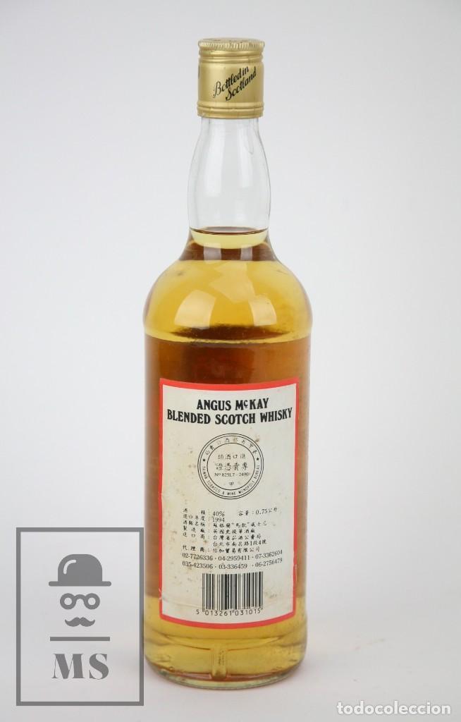 Coleccionismo de vinos y licores: Botella de Whisky - Angus McKay. Blended Scotch Whisky - 40º, 75 cl. - Precintada - Año 1994 - #JSW - Foto 3 - 124598791