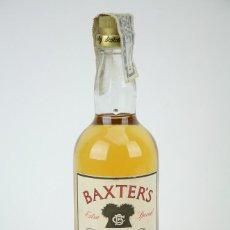Coleccionismo de vinos y licores: BOTELLA DE WHISKY - BAXTER'S. BLENDED SCOTCH WHISKY - 40º, 75 CL - PRECINTADA - AÑO 1977 - #JSW. Lote 124599127