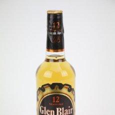 Coleccionismo de vinos y licores: BOTELLA DE WHISKY - GLEN BLAIR, 12 AÑOS, 40º. PURE MALT SCOTCH WHISKY - PRECINTADA - AÑO 1978 - #JSW. Lote 124600211