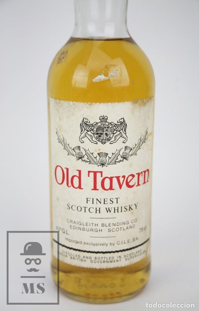 Coleccionismo de vinos y licores: Botella de Whisky Precintada - Old Tavern, 43º, 75 cl. Blended Scotch Whisky - Año 1968 - #JSW - Foto 2 - 124711679