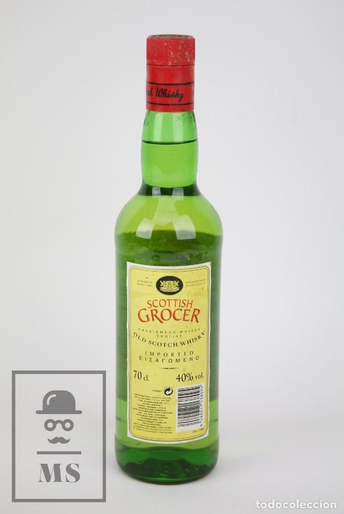 Coleccionismo de vinos y licores: Botella de Whisky Precintada - Scottish Grocer, 40º, 70 cl - Blended Scotch Whisky - Año 1998 - #JSW - Foto 3 - 124727255