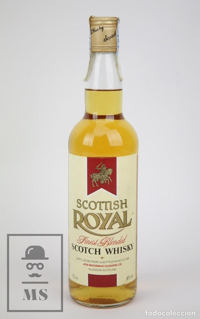 BOTELLA DE WHISKY PRECINTADA - SCOTTISH ROYAL, 40º, 70 CL - BLENDED SCOTCH WHISKY - AÑO 1998 - #JSW (Coleccionismo - Botellas y Bebidas - Vinos, Licores y Aguardientes)