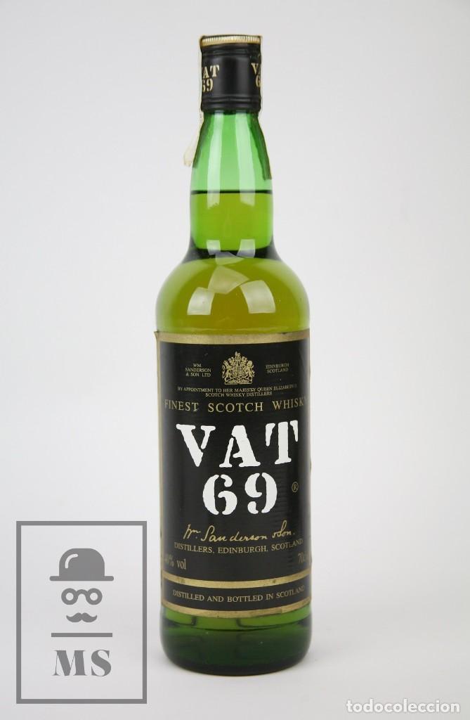 BOTELLA DE WHISKY PRECINTADA - VAT 69, 40º, 70 CL - BLENDED SCOTCH WHISKY - AÑO 1999 - #JSW (Coleccionismo - Botellas y Bebidas - Vinos, Licores y Aguardientes)