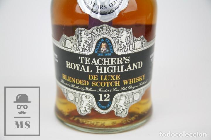 Coleccionismo de vinos y licores: Botella de Whisky Precintada - Teacher's Royal Highland, 12 Años - Blended Scotch - Año 1970 - #JSW - Foto 2 - 125065815