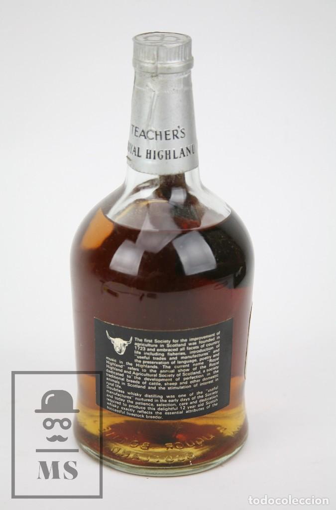 Coleccionismo de vinos y licores: Botella de Whisky Precintada - Teacher's Royal Highland, 12 Años - Blended Scotch - Año 1970 - #JSW - Foto 3 - 125065815