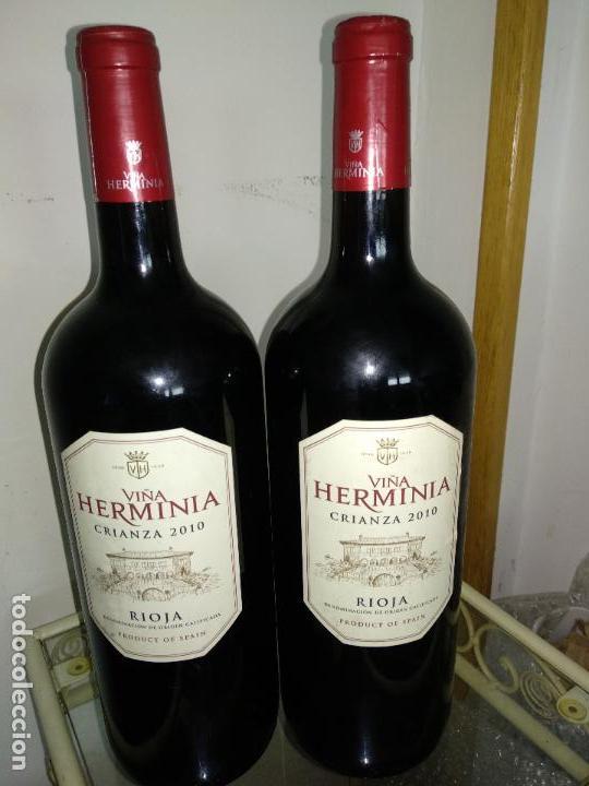 LOTE 2 BOTELLAS VIÑA HERMINIA CRIANZA 2010 MAGNUM 150 CL (Coleccionismo - Botellas y Bebidas - Vinos, Licores y Aguardientes)