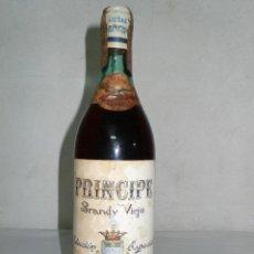 Coleccionismo de vinos y licores: ANTIGUA BOTELLA BRANDY VIEJO PRÍNCIPE DE LARIOS.S.A. MÁLAGA -RESERVADO J*****N-. Lote 128634807