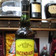 Coleccionismo de vinos y licores: ANTIGUA BOTELLA BRANDY COÑAC, HACENDADO BEBIDA ESPIRITUOSA. Lote 128645239