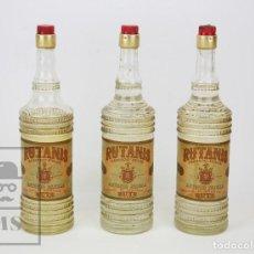 Coleccionismo de vinos y licores: 3 BOTELLAS DE ANÍS LLENAS - ANISADO DULCE RUTANIS. ANTONIO PADILLA, 1 L - RUTE, CÓRDOBA - #CCB. Lote 128860427