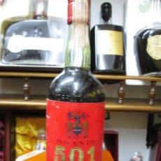 Coleccionismo de vinos y licores: ANTIGUA BOTELLA BRANDY COÑAC,GRANA DE CARLOS Y JAVIER DE TERRY, IMPUESTO DE 4 PTS. DECADA 70-80. Lote 128907627