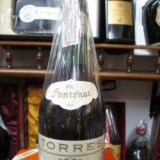 Coleccionismo de vinos y licores: ANTIGUA BOTELLA BRANDY COÑAC, FONTENAC GRANDE FINE IMPUESTO DE 4 PTS, DECADA 70-80. Lote 129445147