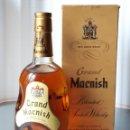Coleccionismo de vinos y licores: GRAND MACNISH BLENDED SCOTCH WHISKY GLASGOW AÑOS 60 750 CC EN CAJA 27X11X11 CM LLENA SIN ABRIR. Lote 131373269