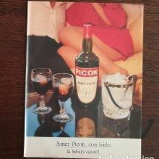 Coleccionismo de vinos y licores: RECORTE PRENSA PUBLICIDAD AMER PICON 28X21CMS. LA BEBIDA VARONIL. Lote 130828812