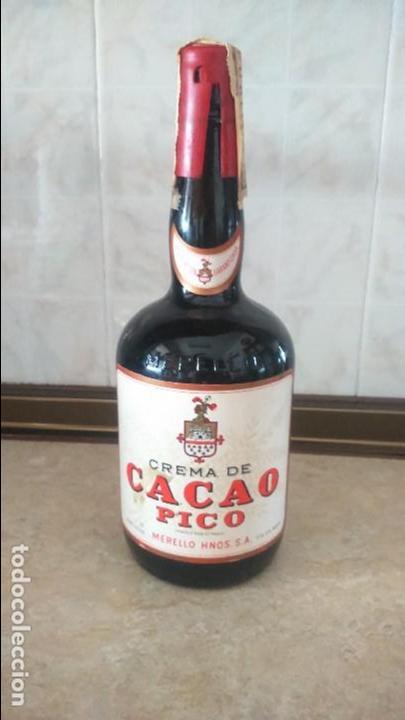 BOTELLA CACAO PICO MERELLO HERMANOS PUERTO DE SANTA MARIA (Coleccionismo - Botellas y Bebidas - Vinos, Licores y Aguardientes)