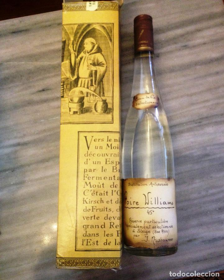VINO ARTESANAL DE PERA- EAU DE VIE- DESTILERIA J. NUSBAUMER (Coleccionismo - Botellas y Bebidas - Vinos, Licores y Aguardientes)
