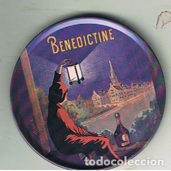 Coleccionismo de vinos y licores: CUATRO POSAVASOS METÁLICOS CON CAJA TAMBIÉN METÁLICA DEL ICOR BENEDICTINE - Foto 6 - 132793862
