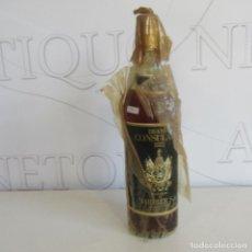 Coleccionismo de vinos y licores: MUY ANTIGUA BOTELLA BRANDY O COÑAC CONSULADO. Lote 132876070