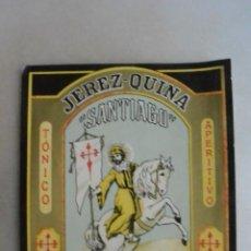 Coleccionismo de vinos y licores: ETIQUETA DE VINO QUINA JEREZ ¨ SANTIAGO¨M GIL GALAN. Lote 133473174