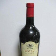 Coleccionismo de vinos y licores: BOTELLÓN DE OSBORNE SOLAZ 2000 TEMPRANILLO CABERNET SAUVIGNON. 3 LITROS. VINO DE CASTILLA.. Lote 134146102