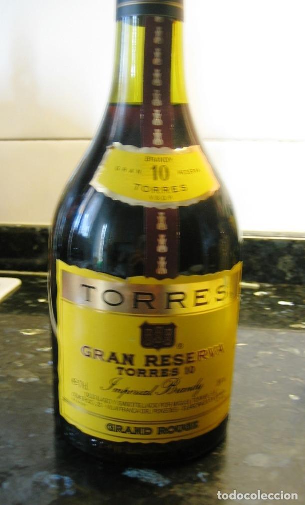 BRANDY TORRES 10- GRAND ROUGE- GRAN RESERVA IMPERIAL SIN ABRIR, CON PRECINTO (Coleccionismo - Botellas y Bebidas - Vinos, Licores y Aguardientes)
