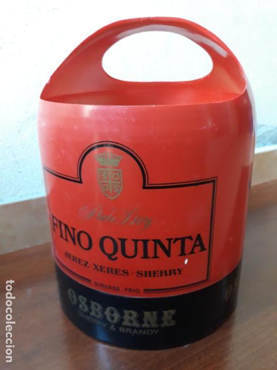 Coleccionismo de vinos y licores: Cubitera osborne fino quinta - Foto 2 - 135348850
