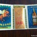Coleccionismo de vinos y licores: VERMOUTH CINZANO ESTUCHE PALIPUIG PATENTADO. PALILLOS HIGIÉNICOS ESTERILIZADOS. OBSEQUIO DE LA CASA.. Lote 135715231