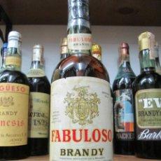 Coleccionismo de vinos y licores: ANTIGUA BOTELLA BRANDY COÑAC, FABULOSO IMPORTADO EXCLUSIVO PARA ECUADOR, IMPUESTO DE 8 PTS.. Lote 136034402