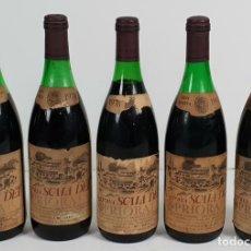 Coleccionismo de vinos y licores: COLECCIÓN DE 5 BOTELLAS DE VINO. CARTOIXA ESCALA DEI. PRIORATO. 1976/1985.. Lote 136348502