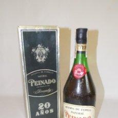 Coleccionismo de vinos y licores: BOTELLA VINTAGE BRANDY COÑAC COGNAC PEINADO. Lote 137223334