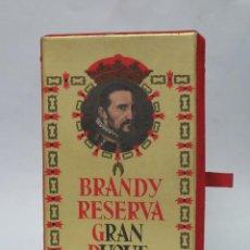 Coleccionismo de vinos y licores: CAJA PARA BOTELLA BRANDY RESERVA. GRAN DUQUE DE ALBA. Lote 138776874
