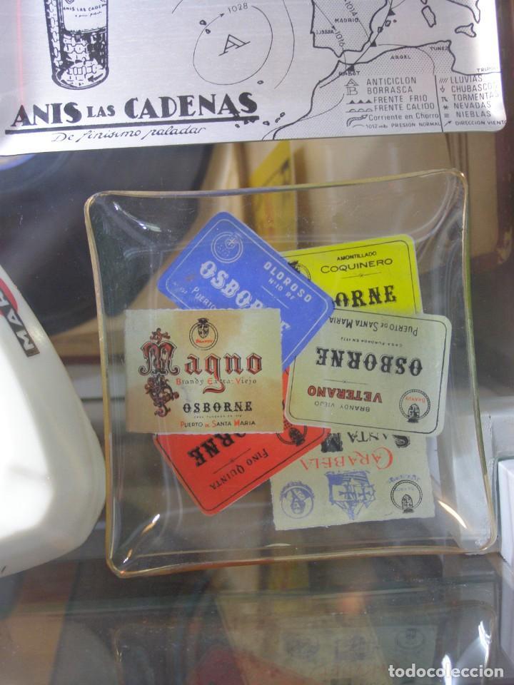 Coleccionismo de vinos y licores: Cenicero Bandeja Osborne Magno. Cristal. Años 60-70s. - Foto 4 - 130824344