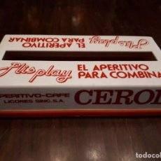 Coleccionismo de vinos y licores: SERVILLETERO APERITIVO PLIS PLAY. APERITIVO CAFÉ CEROL. JELLA, ALCIRA. Lote 138877250