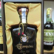 Coleccionismo de vinos y licores: ANTIGUA BOTELLA BRANDY COÑAC, TORREPALMA GRAN RESERVA, VIEJISIMO. Lote 116701387