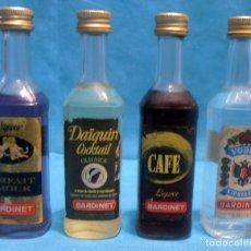 Coleccionismo de vinos y licores: 4 BOTELLINES BARDINET,. Lote 139351250
