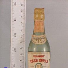 Coleccionismo de vinos y licores: BOTELLITA BOTELLIN BRANDY 3 COPAS GONZALEZ BYASS JEREZ . Lote 140177598