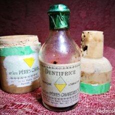 Coleccionismo de vinos y licores: CHARTREUSE DENTIFRICE DE TARRAGONA TAPON DE CORCHO. Lote 140676786