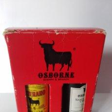Coleccionismo de vinos y licores: BOTELLINES MINI OSBORNE COÑAC TORO VINO. Lote 140736846