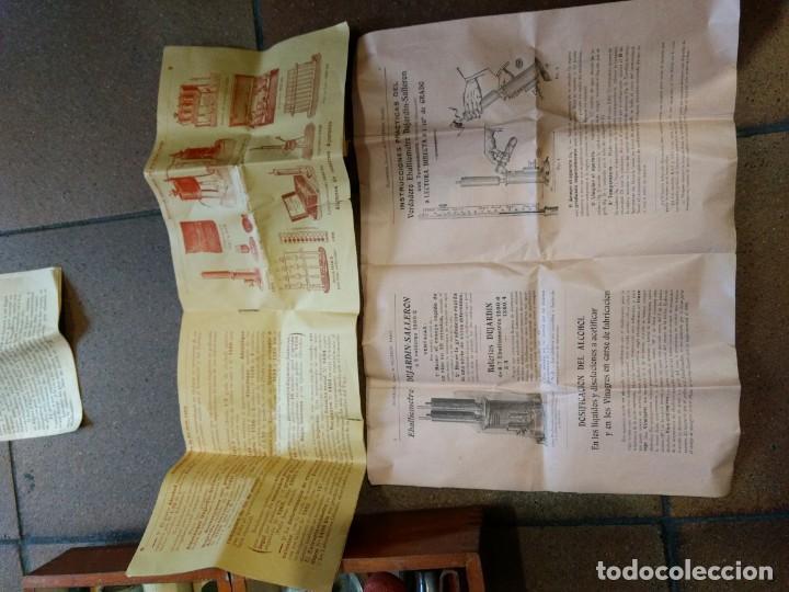 Coleccionismo de vinos y licores: EBULLOMETRO, DESIMENTRO, ALCOHOLÍMETRO MERCURIO. ENOLOGIA VINO. DUJARDIN SALLERON - PARIS. - Foto 7 - 141780746