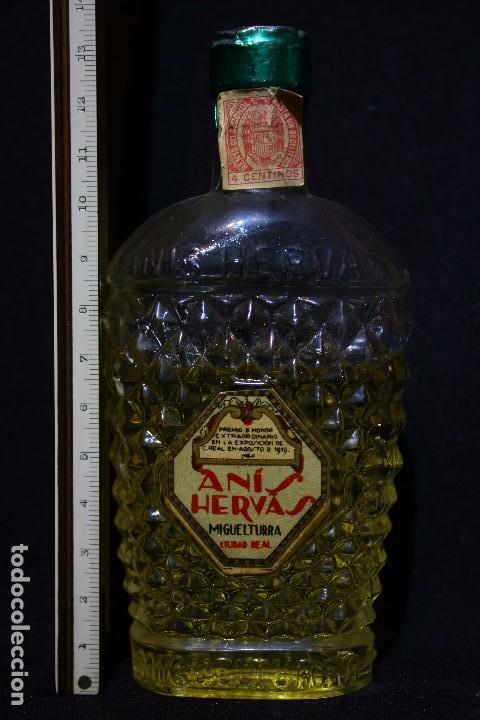 Coleccionismo de vinos y licores: BOTELLIN ANIS HERVAS-MIGUELTURRA-CIUDAD REAL - Foto 4 - 142922558