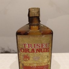 Coleccionismo de vinos y licores: RARISIMA BOTELLA TRISEC ORANGE. SANCHO S.A. BARCELONA. 75CL O 1 LITRO. CERRADA 80 CENTIMOS.. Lote 143327578