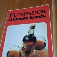 Coleccionismo de vinos y licores: PEGATINA FUNDADOR EL BRANDY, BRANDY. Lote 143472606