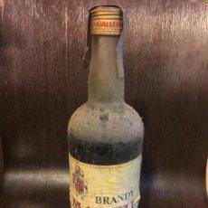 Coleccionismo de vinos y licores: ANTIGUA BOTELLA DE BRANDY MARFIL. DESTIL.LERIES GALLEMI. PRECINTO DE 4PTAS. SIEMPRE EN BODEGA. LLENA. Lote 143604618
