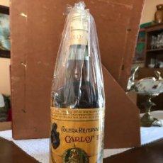 Coleccionismo de vinos y licores: BRANDY CARLOS III PEDRO DOMECQ 4 PTS (CON ESTUCHE). Lote 143980350