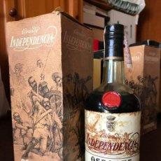 Coleccionismo de vinos y licores: BRANDY INDEPENDENCIA 4 PTS (CON ESTUCHE). Lote 143981190
