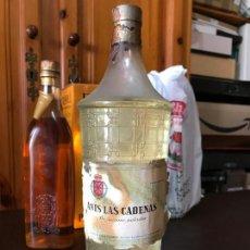 Coleccionismo de vinos y licores: ANIS LAS CADENAS PRECINTO 80 CTM. TAPON CORCHO Y PLOMO. Lote 143986862