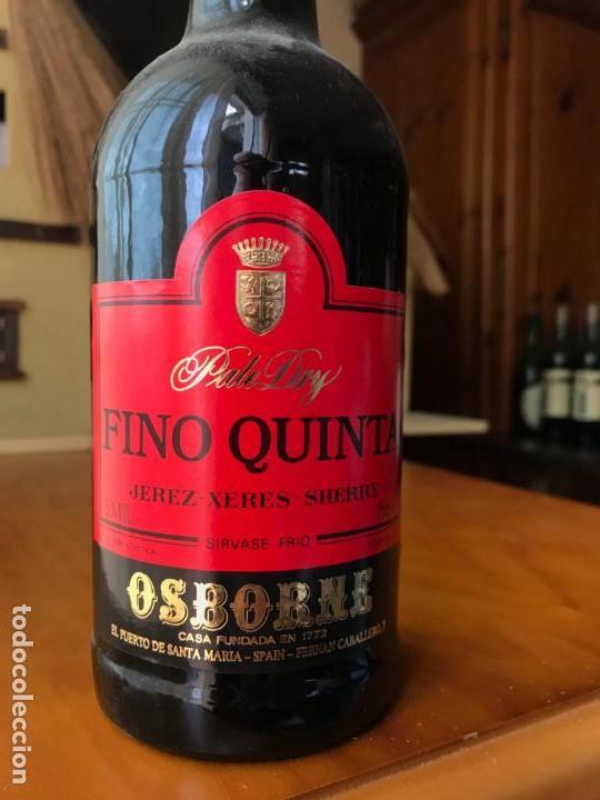 Coleccionismo de vinos y licores: Botella Fino Quinta Osborne - Foto 2 - 143990010