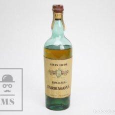 Coleccionismo de vinos y licores: BOTELLA CON TAPÓN DE CORCHO - GRAN LICOR FLOR DEL HIMALAYA, TARRAGONA - HIJOS DE J. VILÁ, GRANADA. Lote 144000206