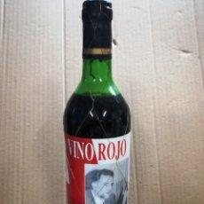 Coleccionismo de vinos y licores: ANTIGUA BOTELLA VINO.JULIO ANGUITA .VINO ROJO.IZQUIERDA UNIDA.. Lote 144242798