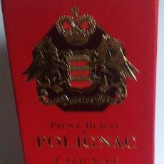 Coleccionismo de vinos y licores: COGNAC PRINCE HUBERT DE POLIGNAC V.S. SIN ABRIR, CON CAJA. PRECINTO HACIENDA. AÑOS 80.. Lote 144592914